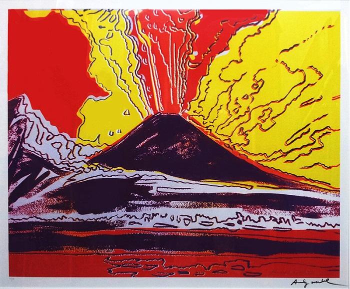 il vesuvio di andy warhol galleria d 39 arte arte