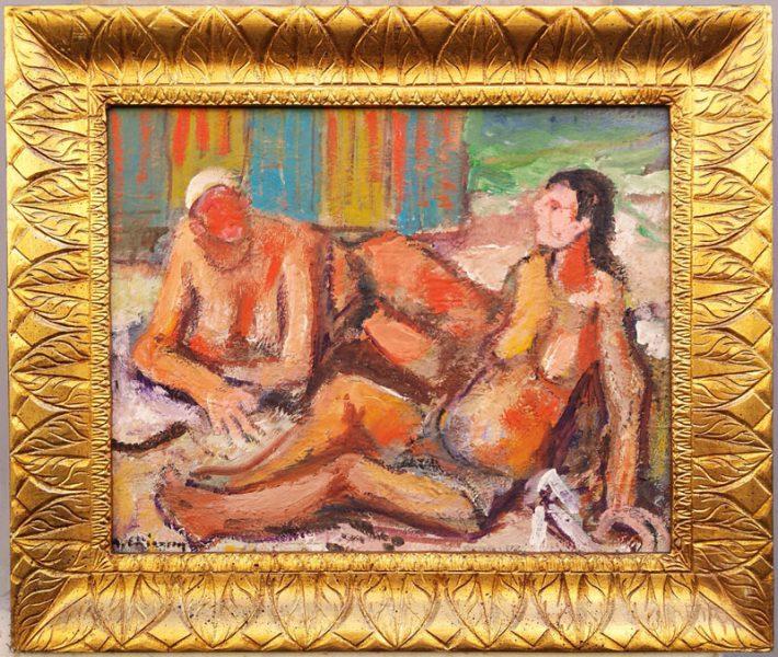 dipinto di chiancone con cornice