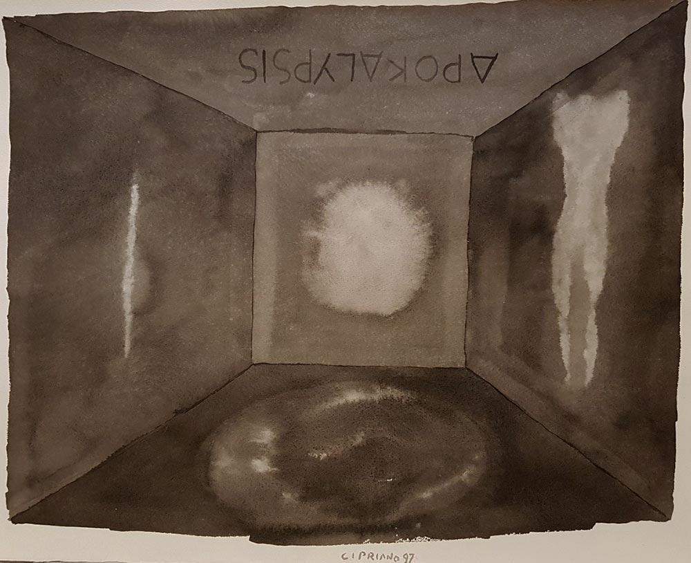 Dipinto di Franco Cipriano, titolo Apokalypsis