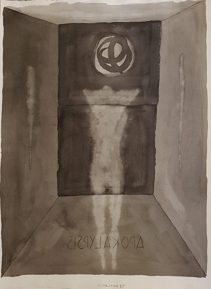 Inchiostro del pittore Franco Cipriano del 1997