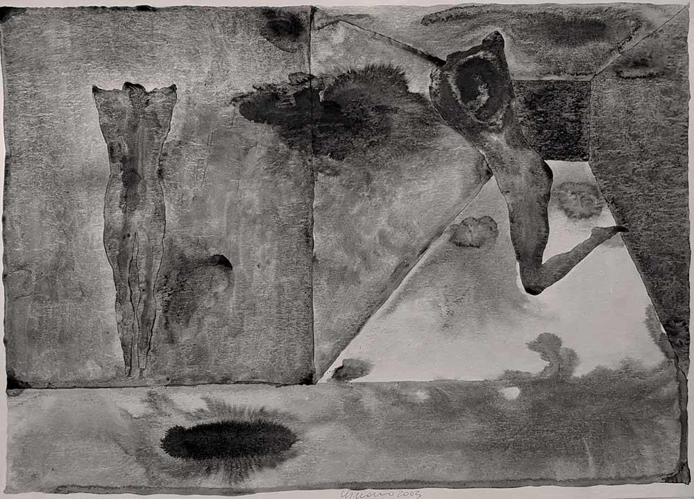 Dipinto di Franco Cipriano, titolo L'annuncio