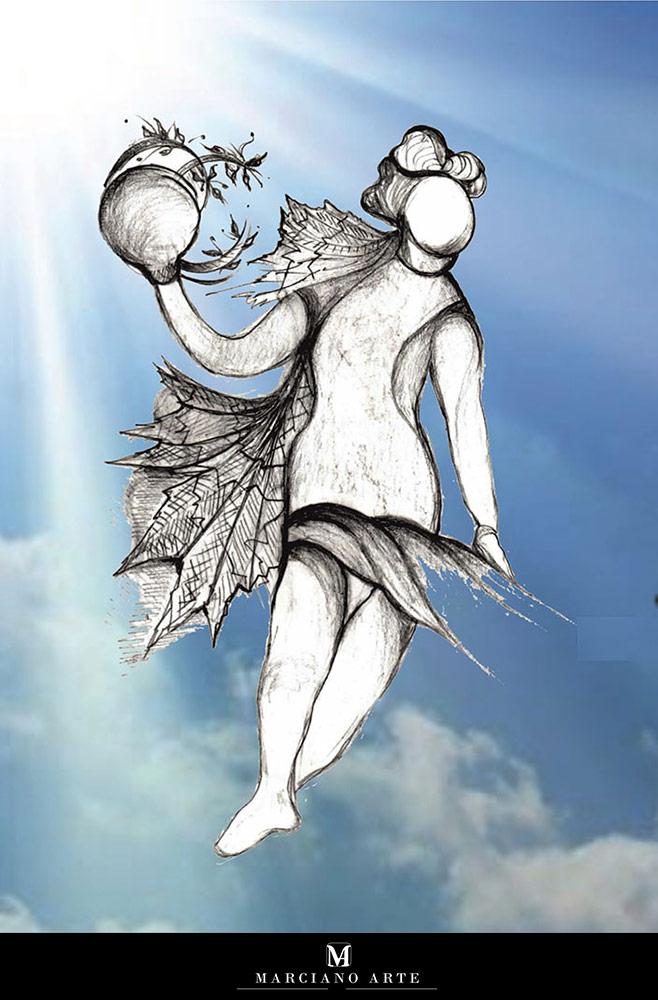 Angelo disegnato da Dalisca per Pasqua 2020