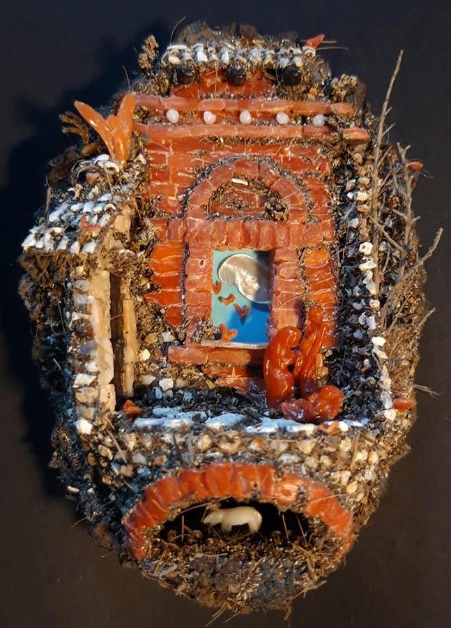 Antonio Marciano, presepe napoletano in corallo. 8x6x5 cm