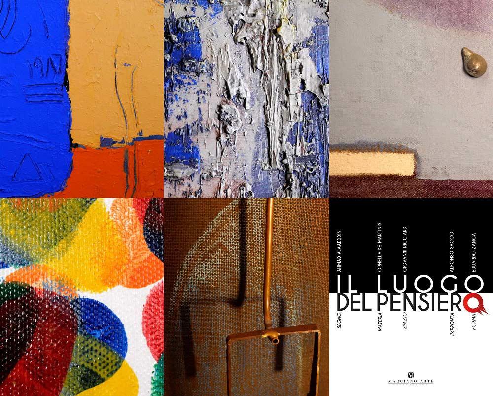 """particolari opere esposte in mostra da scatti fotografici di Patrizio Garofalo per la mostra """"Il Luogo del Pensiero"""""""